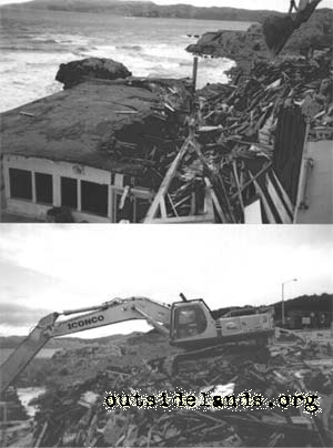 Cliff House Visitor Center Destruction