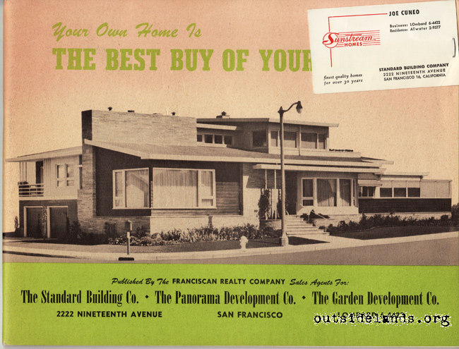 1950s Homes photo tour: sunstream homes sales brochure - western neighborhoods