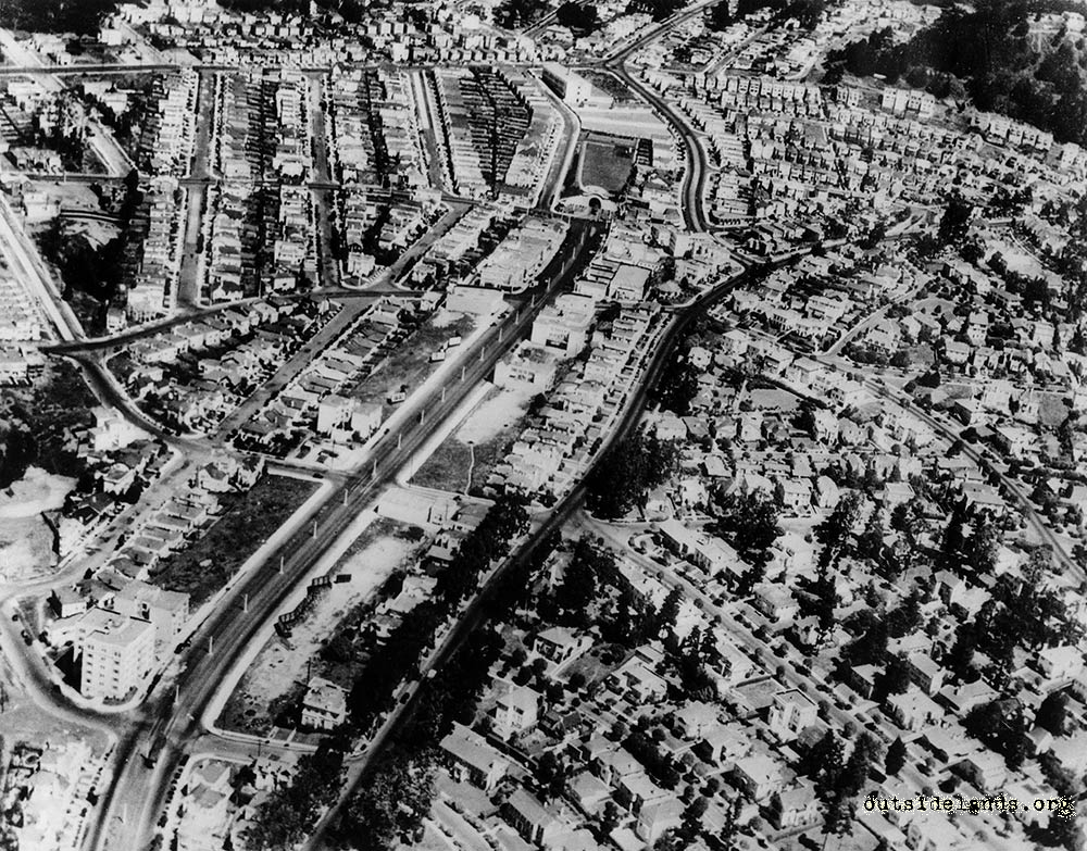 West Portal from the air 1935