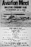 Poster for Ingleside Aviation Meet, 1912